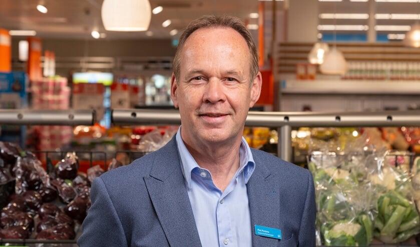 """Supermarktmanager Piet Postma: """"Albert Heijn Terweeplein gaat verbouwen."""" Foto - Albert Heijn, Dirk Brand"""