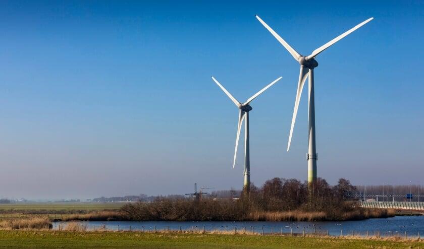 De Watergeuzen, twee windturbines aan de A4.