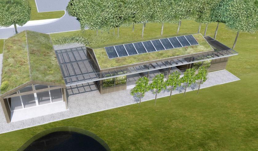 <p>Het ontwerp voor de nieuwe Klaprooshof.   Foto: pr.</p>