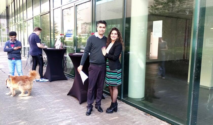 <p>Amir en Sanaz hopen in de Clusiushof hun droom waar te maken.   Foto Willemien Timmers</p>