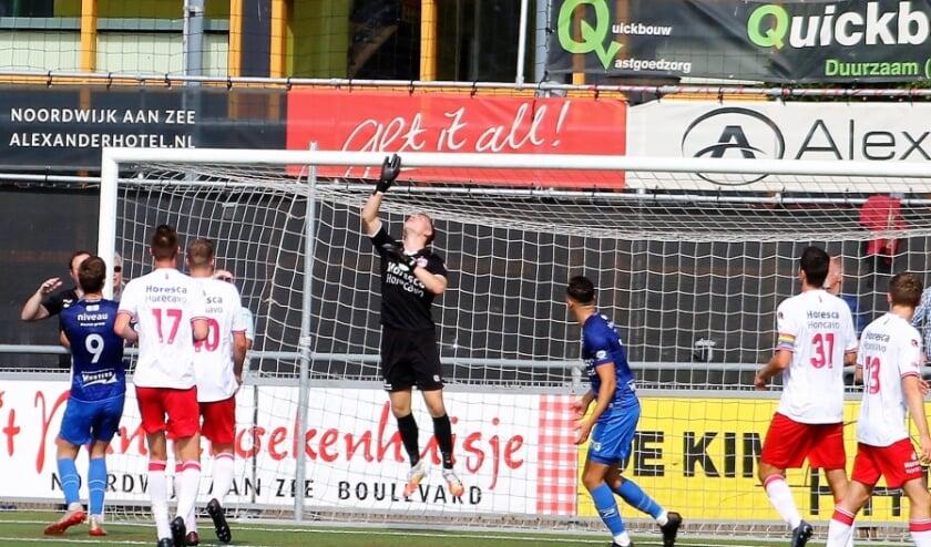 Bij Noordwijk was er een hoofdrol voor keeper Lars Jansen de een aantal bepalende reddingen verrichtte.