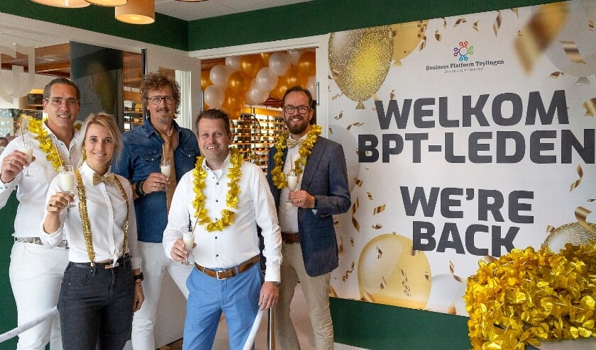 V.l.n.r. Marcel Wesseling, Eva van der Kwast, Rob Batenburg, Patrick Kerkvliet en Krijn van Dijk.