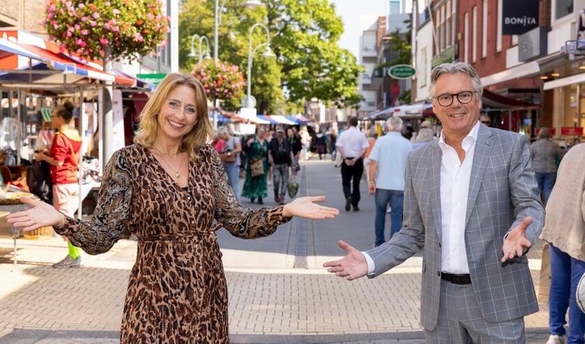 Jolanda Admiraal en Peter Melman zijn blij met de geslaagde markt.