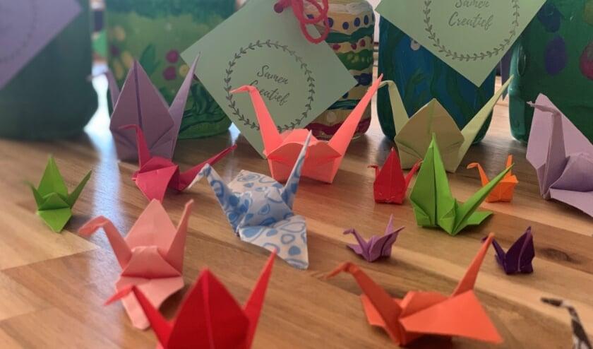 De Potjes Geluk worden bij Samen Creatief gemaakt in Hillegom. | Foto: pr