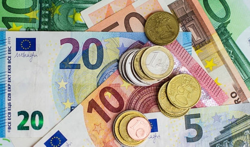 euro bills and coins - cash money