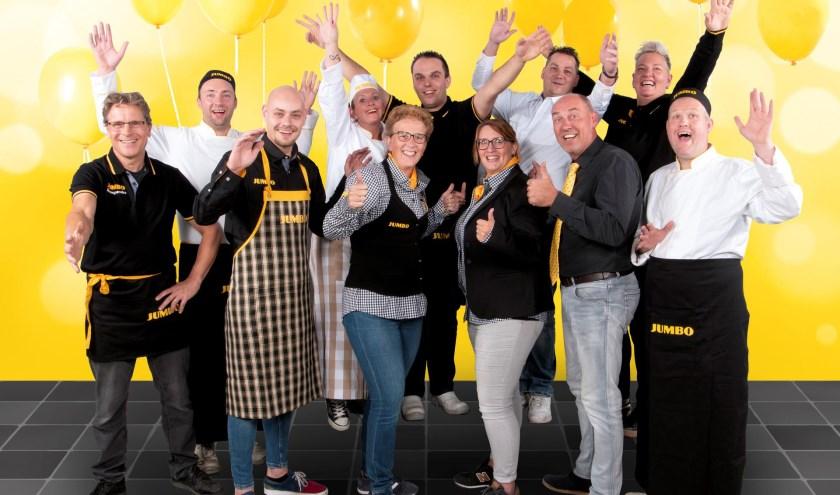 Filiaalmanager Richard Ouweneel en zijn team tijdens de 7 Zekerheden training van de Jumbo Academy op het hoofdkantoor van Jumbo Supermarkten in Veghel
