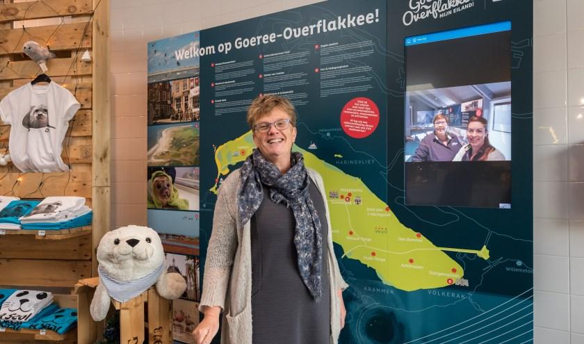 © Wim van Vossen Fotografie - STELLENDAM - De inspiratiewand bij A seal heeft een live verbinding met het blauwe huus in Ouddorp