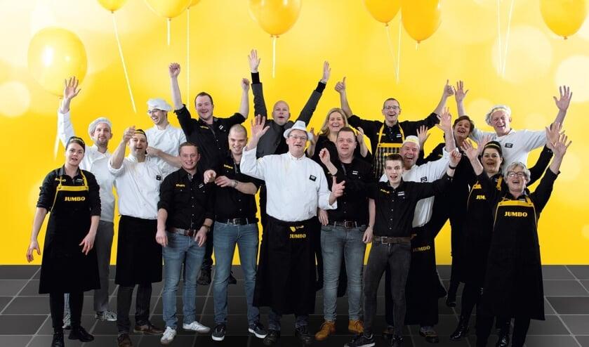 Ondernemer Wiebe Zijlstra en zijn team tijdens de 7 Zekerheden training van de Jumbo Academy op het hoofdkantoor van Jumbo Supermarkten in Veghel.