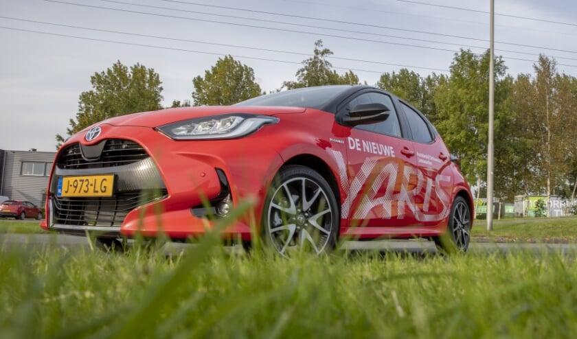<p>E&eacute;n van de deelnemende auto&#39;s van de Autotestdag: de nieuwe Toyota Yaris, beschikbaar gesteld door Autobedrijf Strikwerda</p>