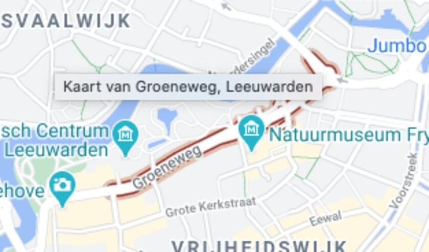 De Groeneweg in Leeuwarden.