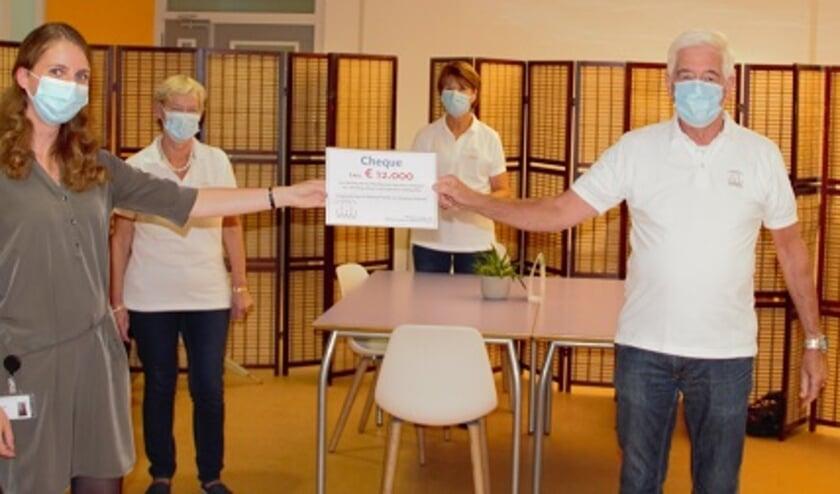 <p>Afdeling KNO van het van Weel-Bethesda Ziekenhuis neemt cheque in ontvangst.</p>