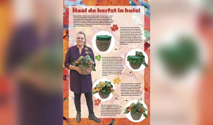 Maak ook je eigen mooie herfststukje(s), met de tips van Martie uit Wirdum.