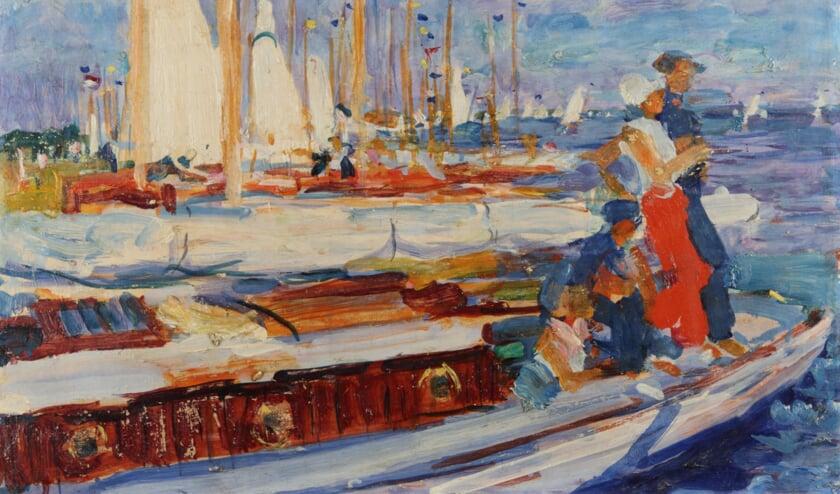 <p>Starterseiland (wasverf op paneel) &ndash; Johan Dijkstra (1923)</p>