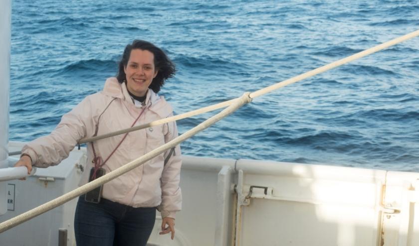 Janou tijdens haar reis op de Eendracht
