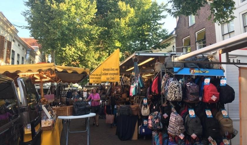 De markt in Sommelsdijk