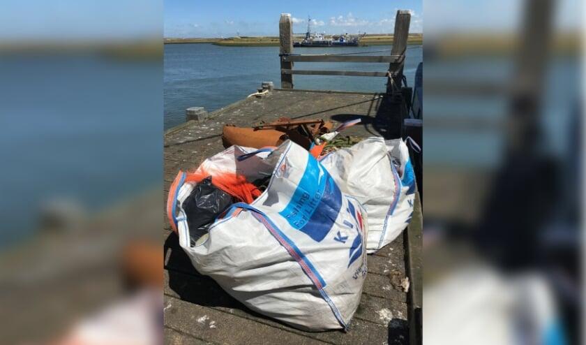 Record aan zwerfafval ingezameld door de vissers die lossen op Stellendam