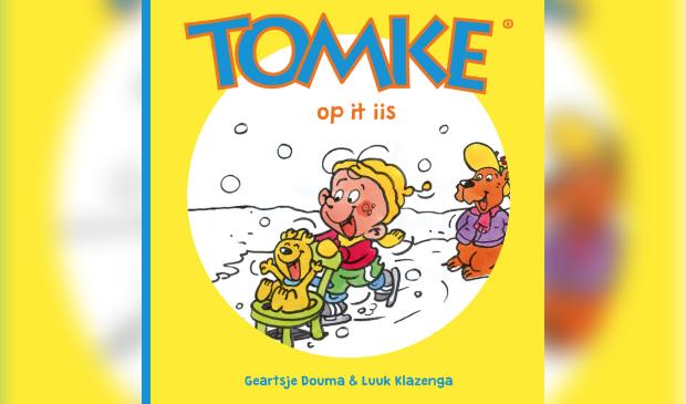 De cover van één van de vele boekjes met de avonturen van Tomke en zijn vriendjes.