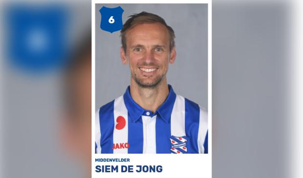 Siem de Jong, maker van het Heerenveense doelpunt.