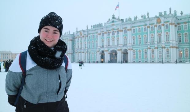 Melissa Wijnja in Rusland
