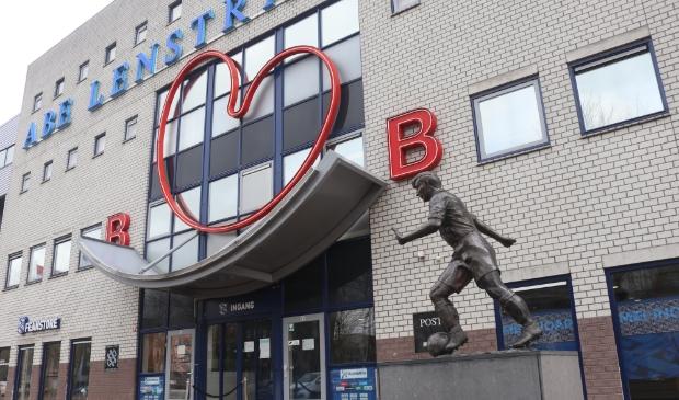 Ingang van het Abe Lenstra Stadion in Heerenveen.