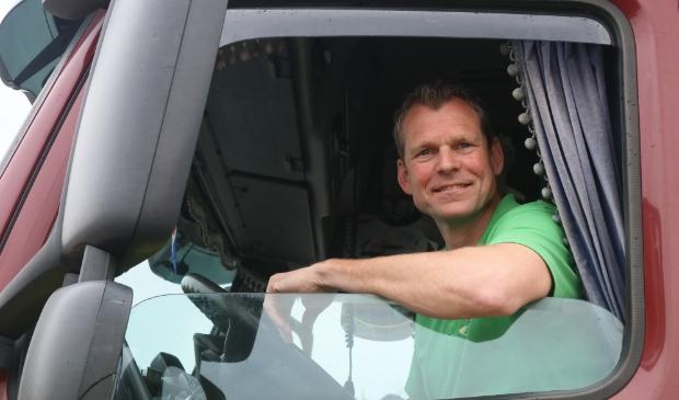 Vrachtwagenchauffeur Anne Hollema.