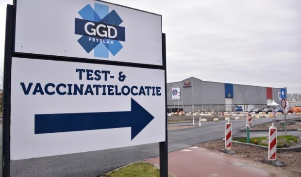De corona test en vaccinatielocatie in de Friese hoofdstad.