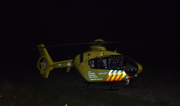 Ongeval met brommer, traumahelikopter ingezet Foto: AS Media © Rondom Goeree Overflakkee