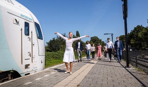 <p>De nieuwe WINK-trein van Arriva &lsquo;Snitser Mar&rsquo; </p>