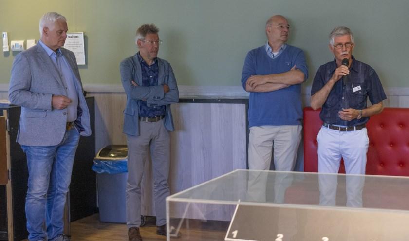 Rik Dijkhoff, Jan Ackermans, Jan-Willem Slijper en Math de Vaan.