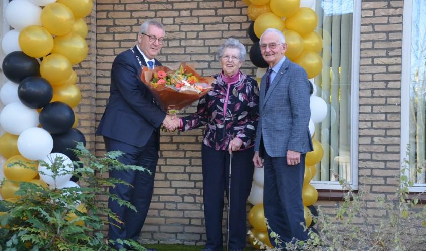 Het echtpaar kreeg vorige week een bezoek van de burgemeester.
