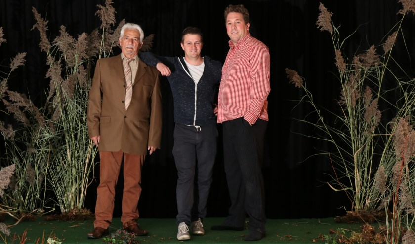 Kees Lambregts, Dennis van Eck en Vincent Knuever. Foto: Fotogroep Heivelden