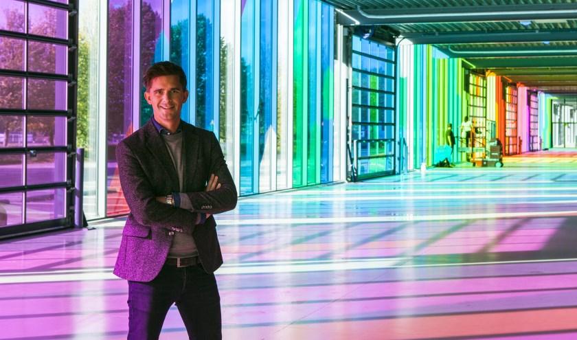Jeroen Dona toont trots Mainstage. Foto: Michel van de Langenberg