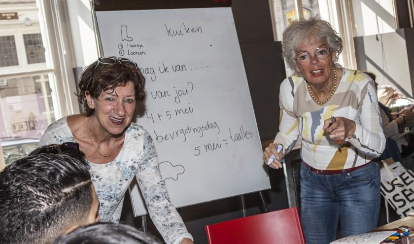 Marjohn van de Ven en Willeke van Heumen stonden aan de wieg van ABC leer mee. Foto: Michel van de Langenberg