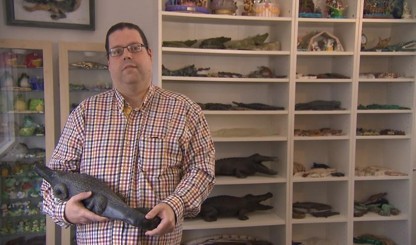 Stijn Swinkels uit Vught is met zijn krokodillenverzameling te zien in het SBS6 programma 'Verzamelkoorts!'