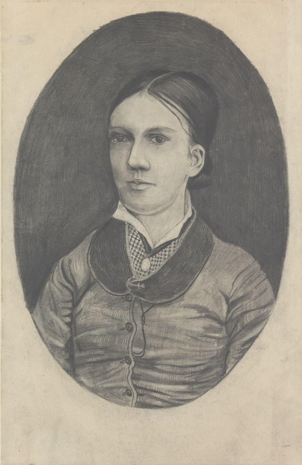 Dit portret tekende Vincent van zijn zus Willemien in juli 1881. Het is in bezit van het Kröller-Müller Museum. Foto: Rik Klein Gotink Foto: Rik Klein Gotink © bosscheomroep.nl
