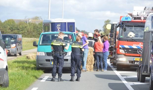 Consternatie op de Pontweg, ter hoogte van de Amaliaweg.