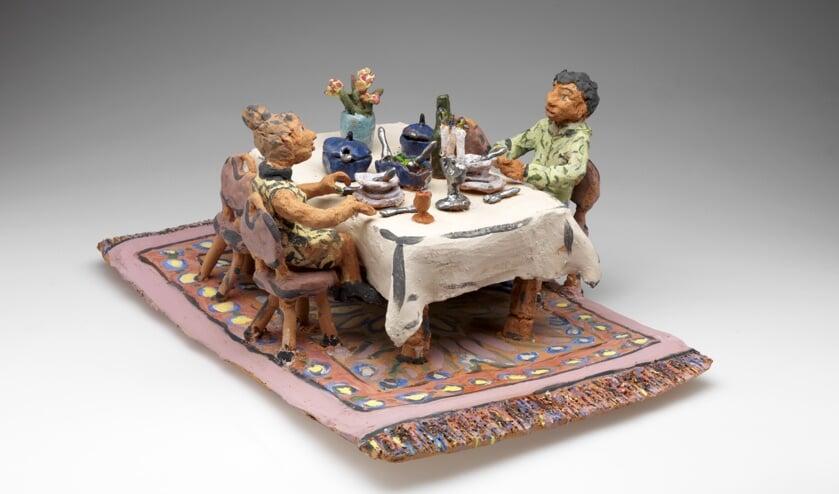 Jeannet Klement: Dinner for two (keramiek)