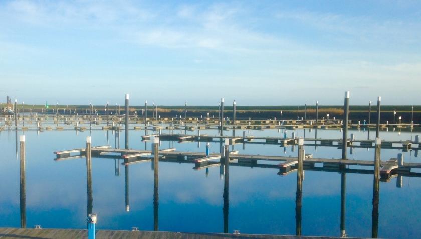 De waddenhaven in Oudeschild.
