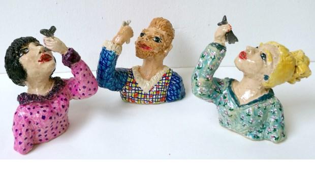 Jeannet Klement: Haringhappers (keramiek)