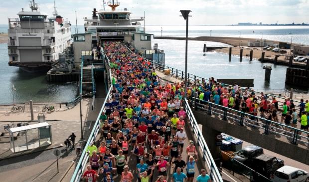 <p>De Texel Halve Marathon in 2018.</p>