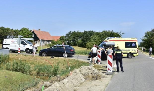 Eén van de betrokkenen kreeg in de ambulance eerste hulp.