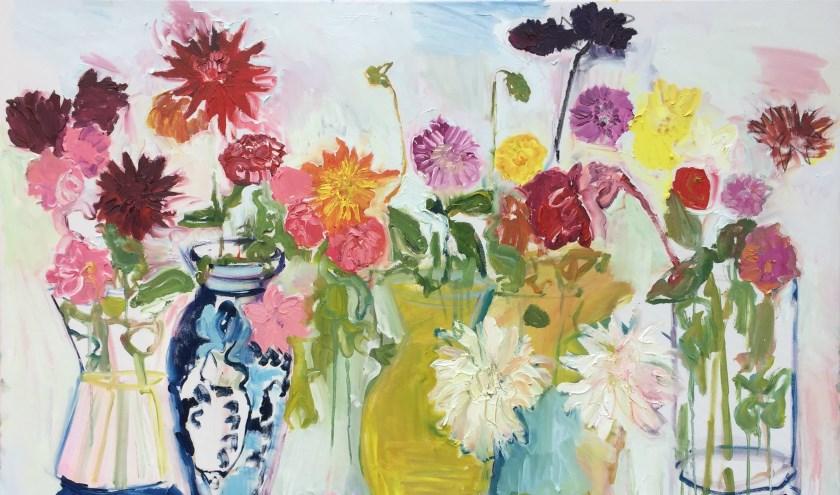 Betteke Akkerman: Dahlia's in Galerie Posthuys