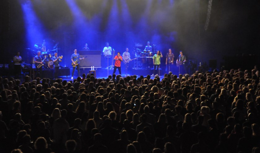 Feest in de Evenementenhal tijdens het concert van Hazes enkele weken geleden.