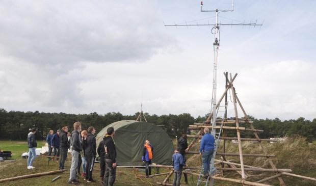 De zendmast van Scouting Texel op Loodsmansduin.