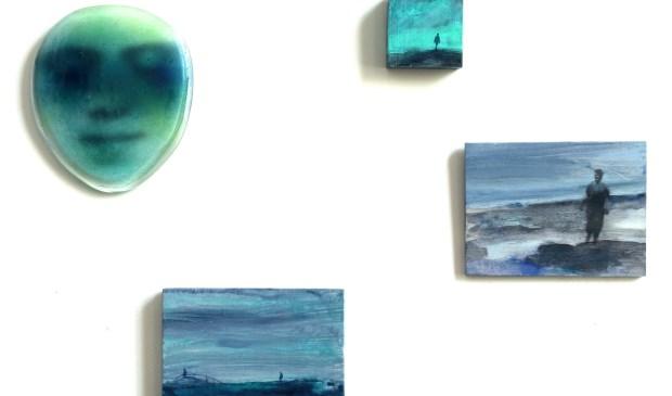 Marieke Peters (glas en hout) in Galerie Posthuys