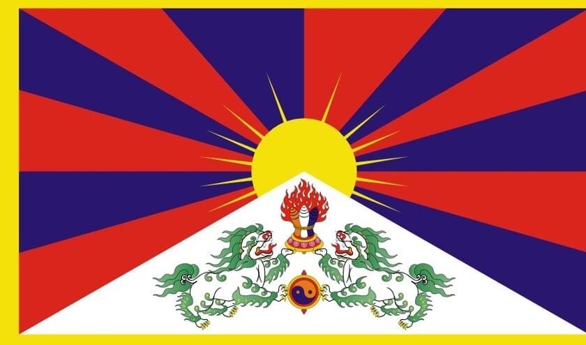 Afbeelding van de Tibetaanse vlag.
