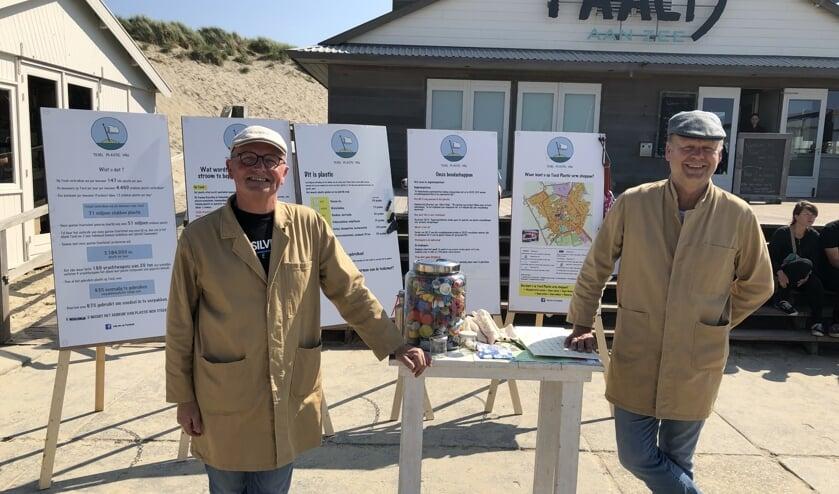Fred Winkel en Roland Bisschop van Texel Plastic Vrij.