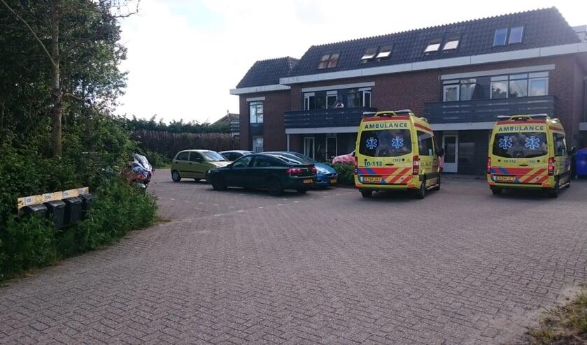 Ambulances waren dinsdagavond snel ter plekke.