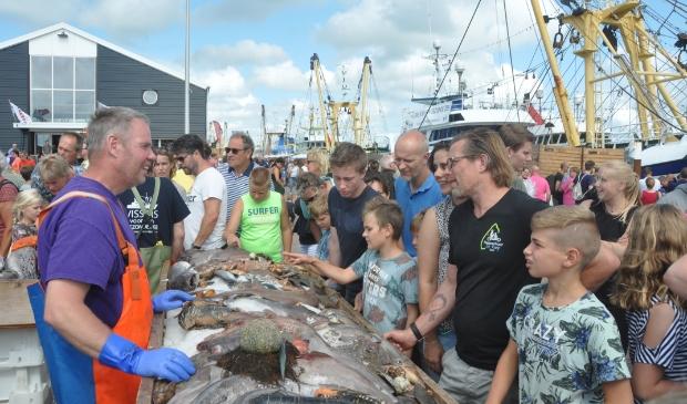 Uitleg over diverse soorten vis op het HavenVIStijn van 2019.