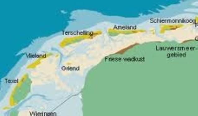 De Waddeneilanden. (Afbeelding Ecomare)